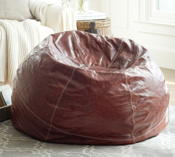 Leather Bean Bag Cover Pottery Barn