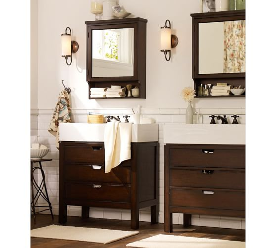 seville wall mounted medicine cabinet pottery barn. Black Bedroom Furniture Sets. Home Design Ideas