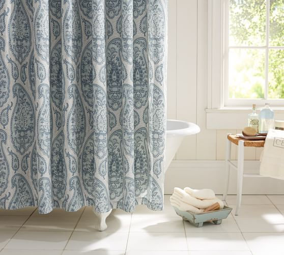 Ashlyn Paisley Organic Shower Curtain