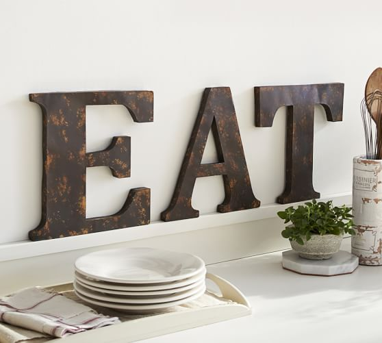 Rustic Letters Wall Decor : Rustic metal letters pottery barn