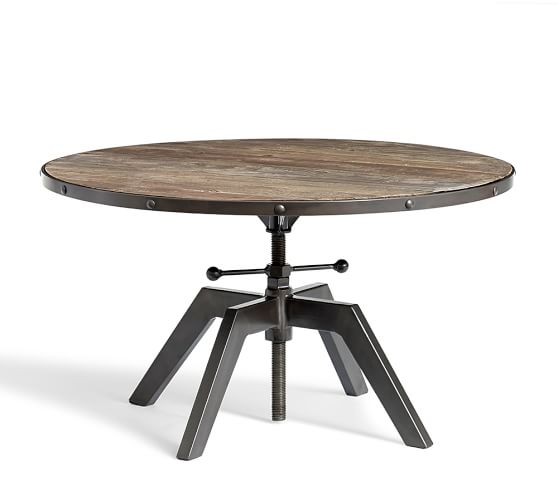 Blaine reclaimed wood adjustable bunching coffee table for Movable coffee table