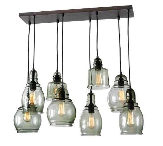 paxton glass 8 light pendant pottery barn. Black Bedroom Furniture Sets. Home Design Ideas