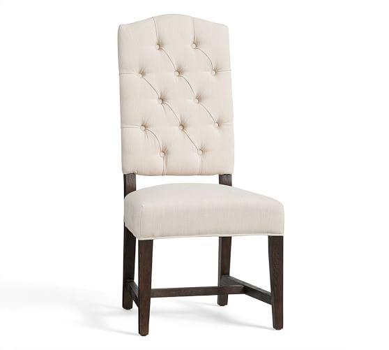 ashton tufted side chair pottery barn