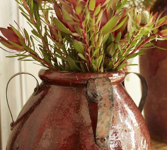 Marlowe Vases Burgundy Amp Oche Pottery Barn