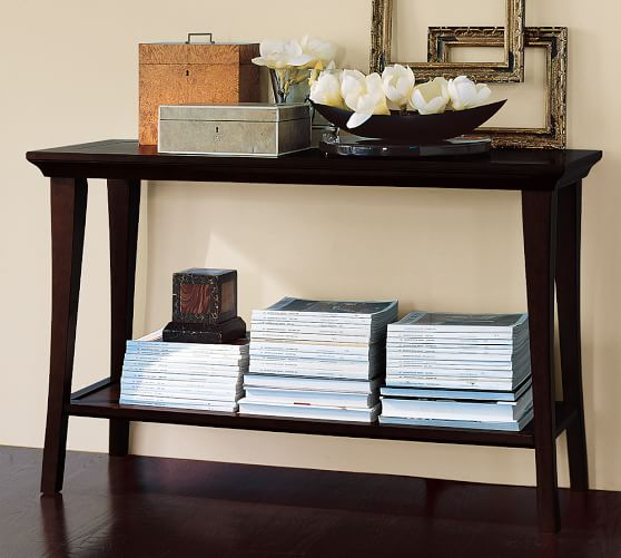 metropolitan console table pottery barn. Black Bedroom Furniture Sets. Home Design Ideas