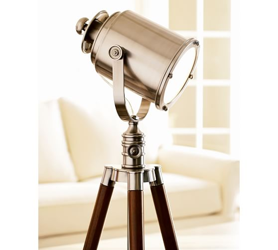 photographer 39 s tripod floor lamp pottery barn. Black Bedroom Furniture Sets. Home Design Ideas