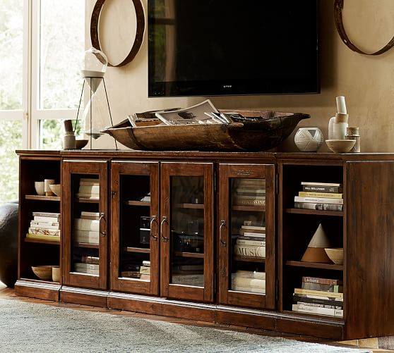 pottery barn entertainment console 1