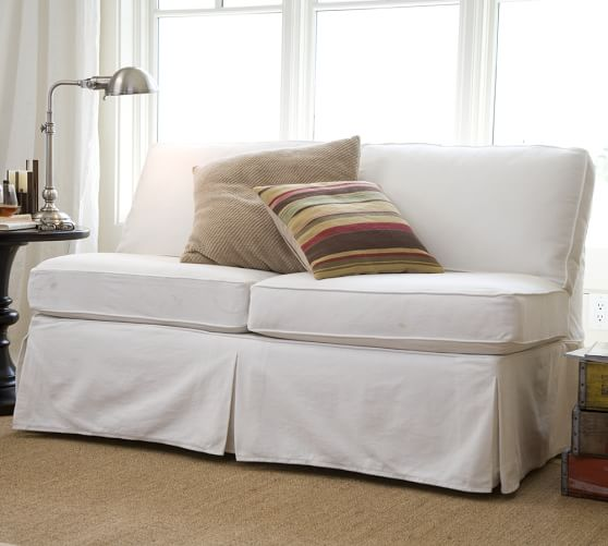 build your own pb basic slipcovered sectional components pottery barn. Black Bedroom Furniture Sets. Home Design Ideas
