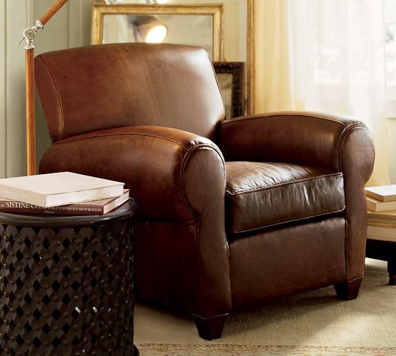 Pottery Barn Leather Chairs Manhattan Armchair