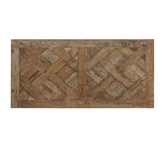 parquet reclaimed wood rectangular coffee table pottery barn With parquet reclaimed wood rectangular coffee table