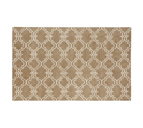 Scroll Tile Rug Mocha Pottery Barn