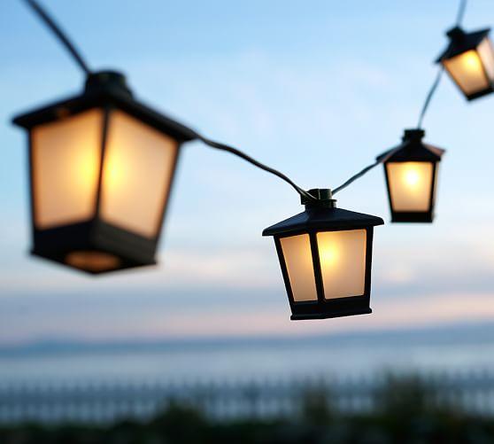 Lantern String Lights Decor : Malta Mini Lantern String Lights Pottery Barn