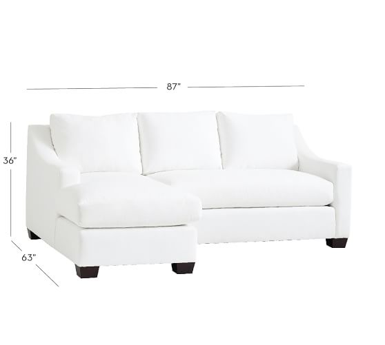 York Slope Arm Upholstered Sofa With Chaise Sectional