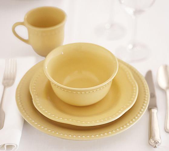 Emma Dinnerware Yellow Pottery Barn