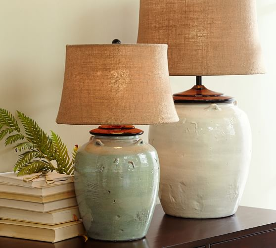 Courtney Ceramic Table Lamp Base Blue Pottery Barn