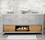 Classic Double Sink Console Base only, Gray