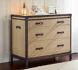 Redford Vintage Trunk Dresser, Burlap