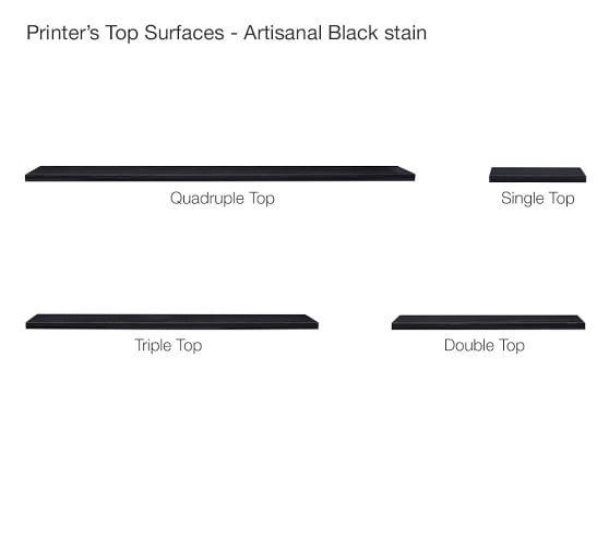 Printer's Single Top, Artisanal Black stain