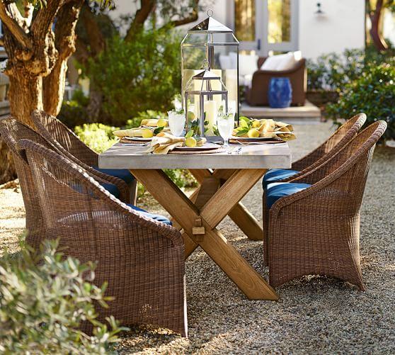 Abbott Zinc Top Rectangular Fixed Dining Table Amp Palmetto