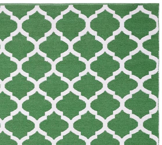 Becca tile reversible indoor outdoor rug green pottery for Indoor outdoor carpet green
