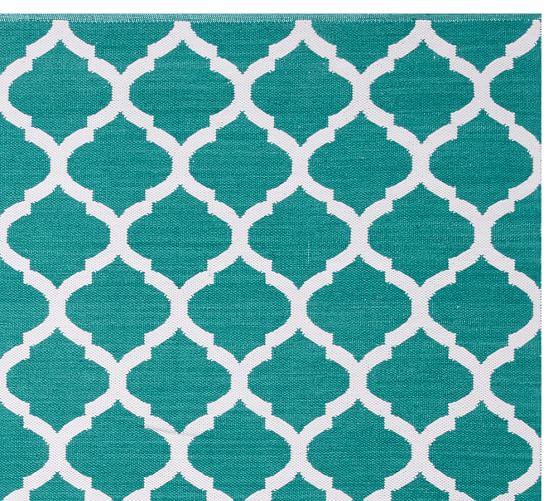 Becca Tile Reversible Indoor/Outdoor Rug - Teal