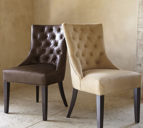 Hayes Tufted Leather Dining Side Chair