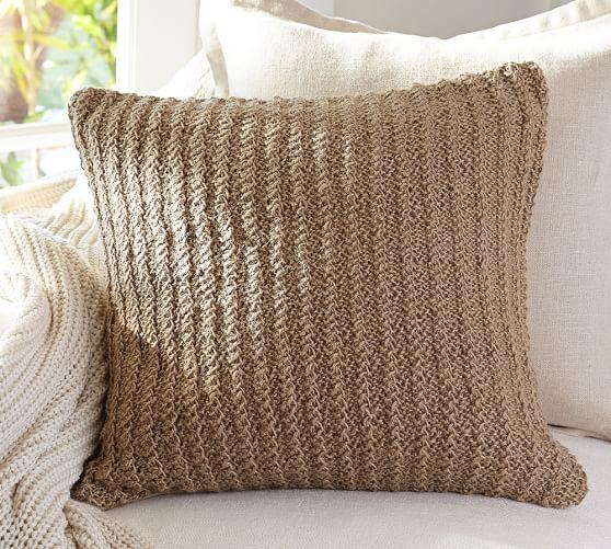 Woven Jute Pillow Cover