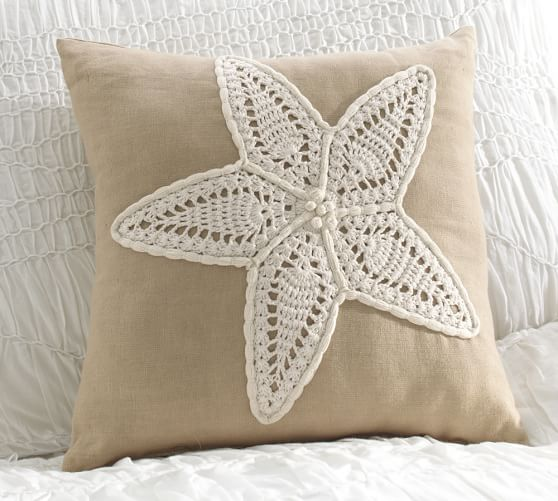 Starfish Wall Decor Pottery Barn : Crochet starfish decorative pillow pottery barn