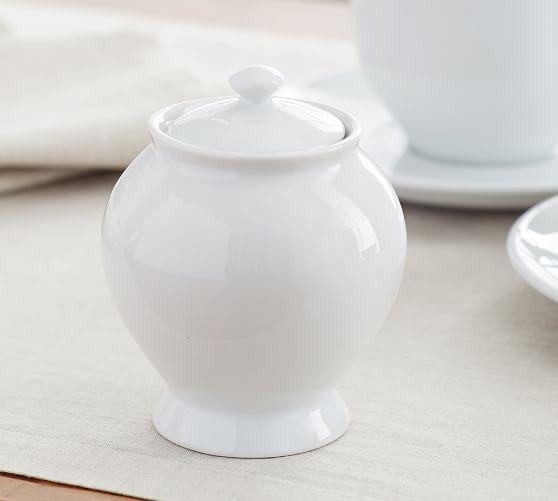 Great White Sugar Bowl & Creamer