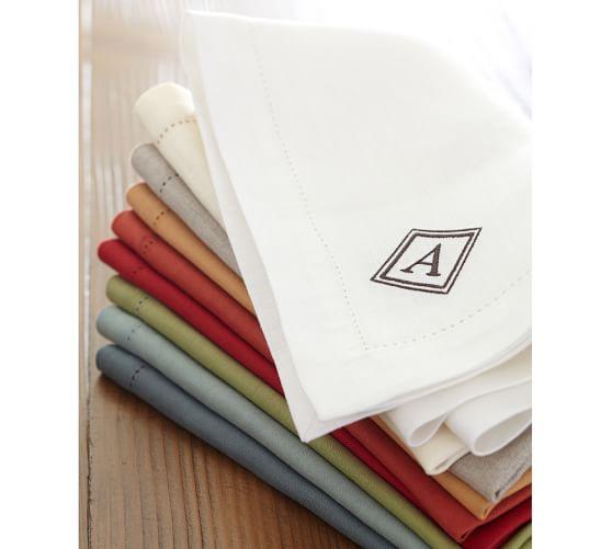 Pb Classic Linen Hemstitch Napkin Place Mat Set Of 4