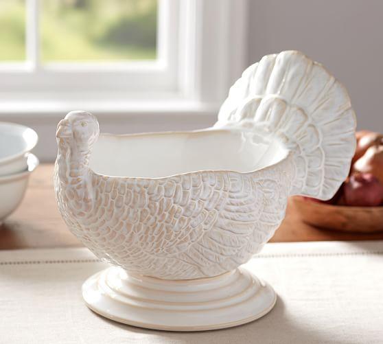 Turkey Figural Serve Bowl