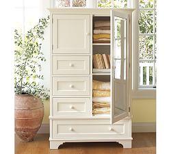 White furniture white wardrobes cynthia collection for Cynthia storage bed