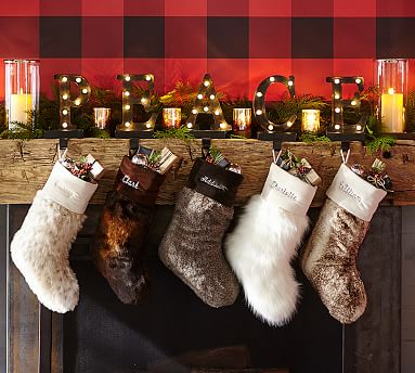 Faux Fur Stockings Pottery Barn
