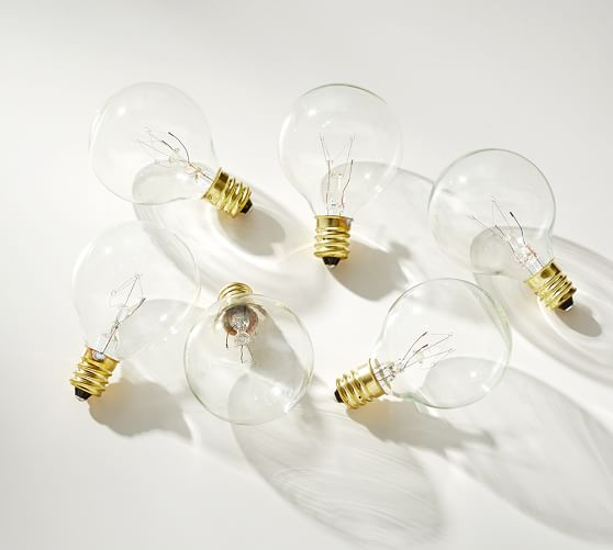 String Lights With Replacement Bulbs : Globe String Lights Replacement Bulb Set Pottery Barn