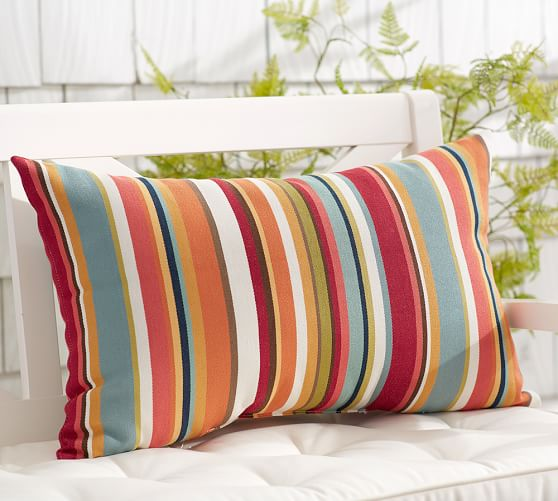 Giorgia Stripe Indoor/Outdoor Lumbar Pillow
