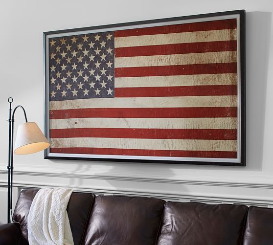 how to put up flag on wall