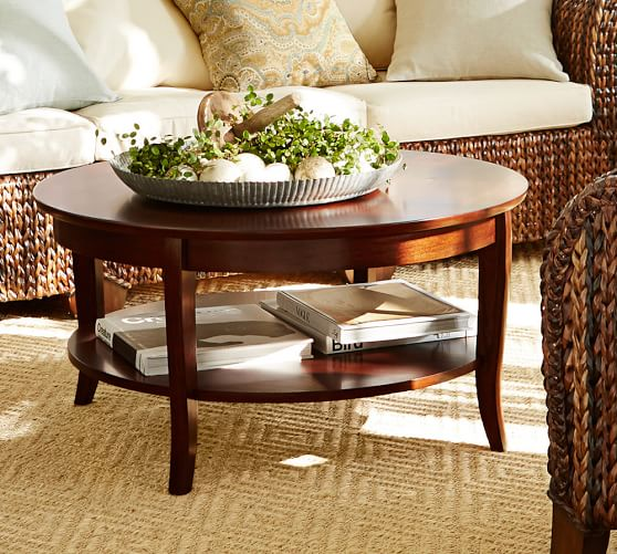 Chloe Round Coffee Table Pottery Barn