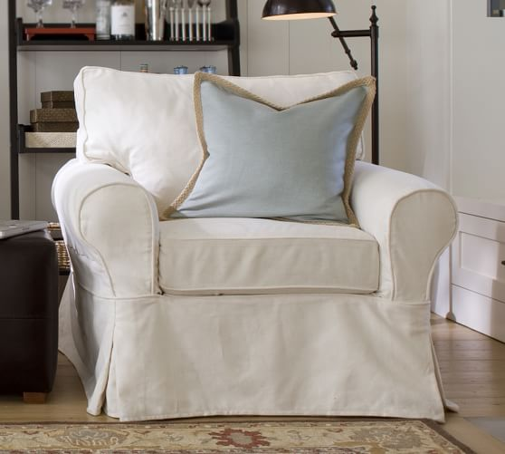 Pb Basic Slipcovered Armchair Pottery Barn