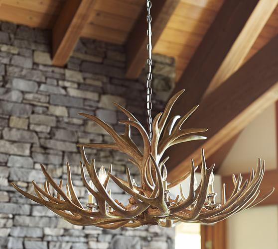 Antler Foyer Lighting : Faux antler chandelier pottery barn
