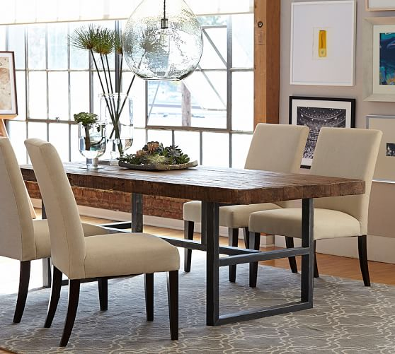 Reclaimed Wood Dining Room Table ~ Griffin reclaimed wood fixed dining table pottery barn