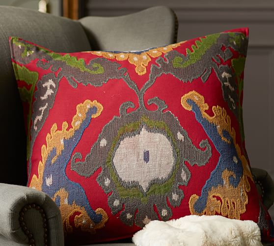 Pottery Barn Decorative Pillow Covers : Inna Ikat Pillow Cover Pottery Barn