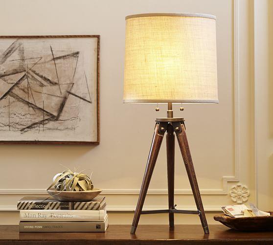 Pottery Barn Vintage Desk Lamp: Gibson Tripod Table Lamp
