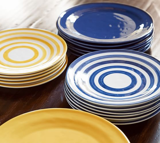 Reese Stripe Salad Plate, Set of 4
