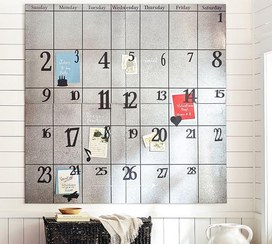 pottery barn magnetic calendar 1