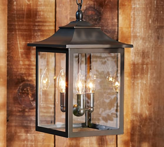 Classic indoor outdoor pendant pottery barn for Classic house lighting