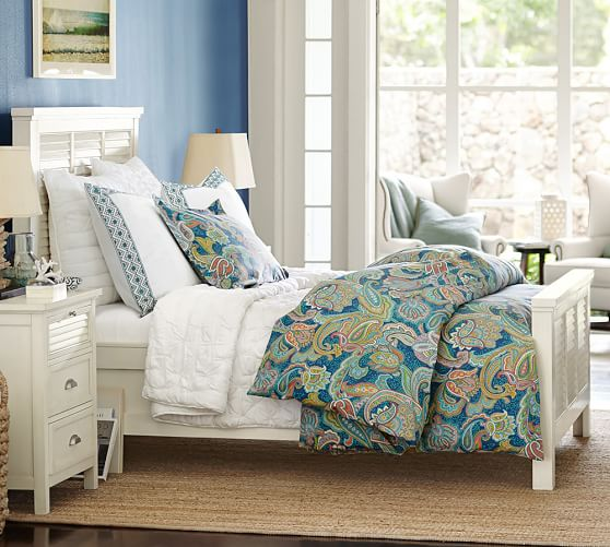 Going Coastal Pottery Barn Part I: Coastal Shutter Bed