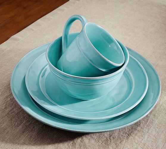 Pottery Barn Blue Kitchen Set: Cambria Mug, Set Of 4 - Turquoise