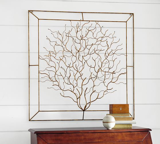 Metal Wall Decor Clearance : Coralina metal wall art pottery barn