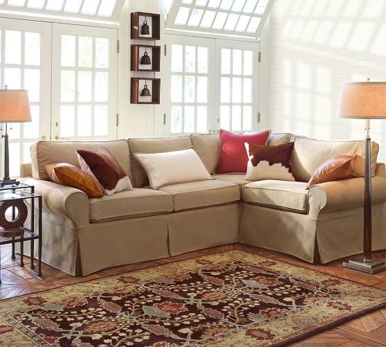 Pb Basic Sofa Slipcover Ebay: PB Basic Slipcovered 3-Piece Sectional