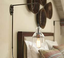 Plug In Wall Sconces Pottery Barn : Plug In Wall Lamps & Plug In Sconces Pottery Barn